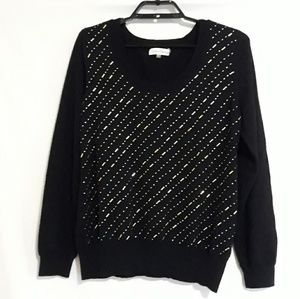 Calvin Klein black and gold sweater